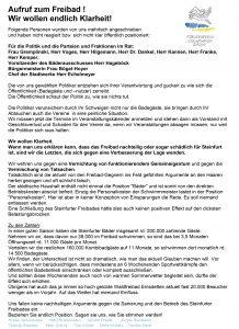 Förderverein - Aufruf zum Freibad
