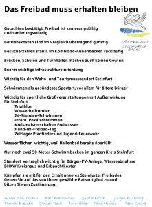 Förderverein - Flugblatt-Aktion